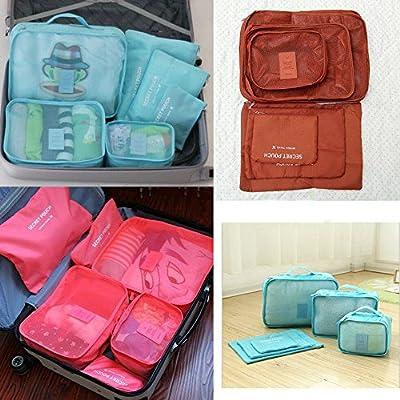 Unho 6 PCS Travel Storage Bag Portable Dustproof Packing Clothes Accessories Travel Luggage Kit Pouch Handbag Suitcase Storage Organizer by B-Fashion Ltd