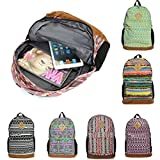 Retro Canvas Women Men Backpack Rucksack Satchel Shoulder Travel Gym Bag Schoolbag