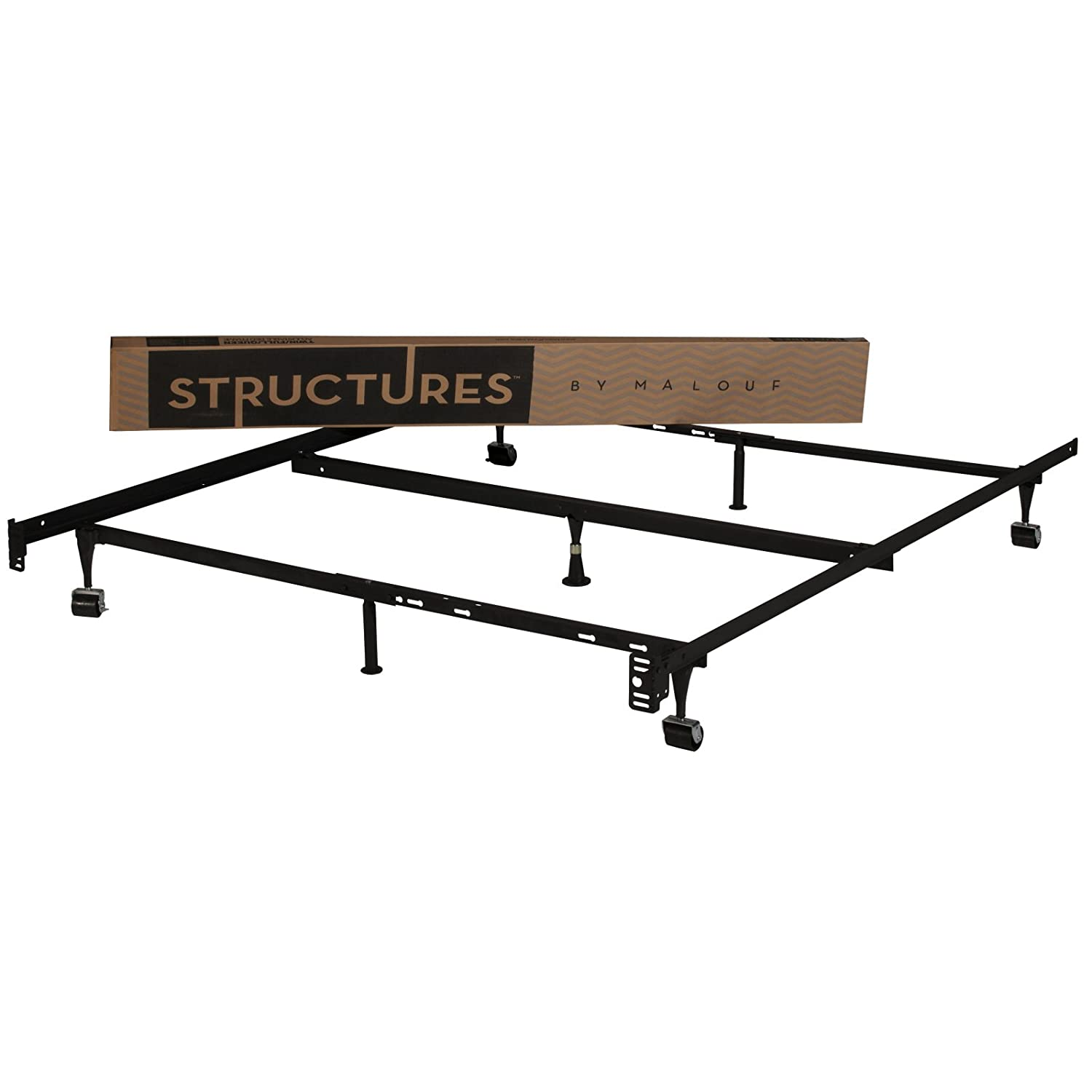 Sears Adjustable Twin Beds : Structure twin xl metal bed frame with rug rollers home