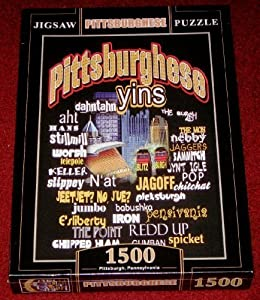 """Pittsburghese Jigsaw Puzzle~1500 Pieces~size 34"""" X 22""""~~sealed~pittsburgh Slang Words from SteelerMania"""