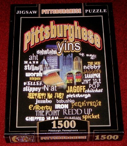 "Pittsburghese Jigsaw Puzzle~1500 Pieces~size 34"" X 22""~~sealed~pittsburgh Slang Words from SteelerMania"