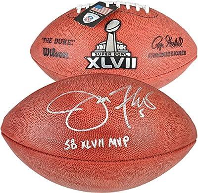 "Joe Flacco Baltimore Ravens Super Bowl XLVII Autographed Pro Football with ""SB 47 MVP"" Inscription - Fanatics Authentic Certified"