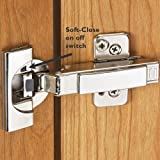 Blum Soft-Close 110° BLUMotion Clip Top Inset Hinges for Frameless Cabinets