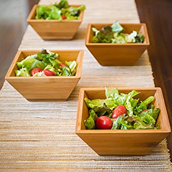 Wood Salad Bowl For Serving Salad, Pasta, Soup, and Fruit