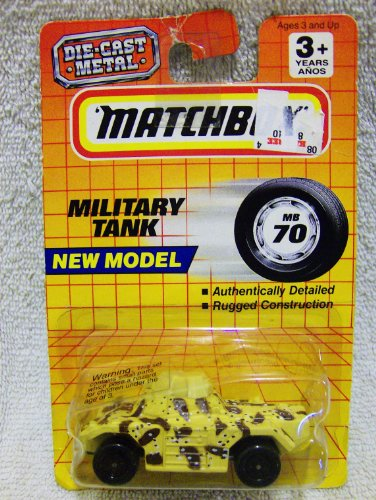 1993 Matchbox Series #70 Military Tank 1:64 Scale Die Cast Vehicle - 1