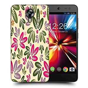 Snoogg Multicolor Leaves Printed Protective Phone Back Case Cover For Micromax Canvas Nitro 4G