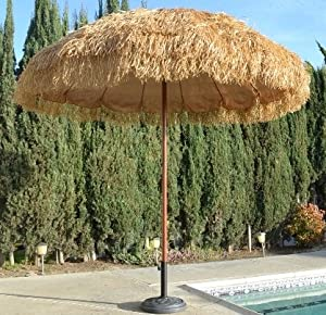 Amazon Com Bayside21 8 Hula Thatched Tiki Umbrella