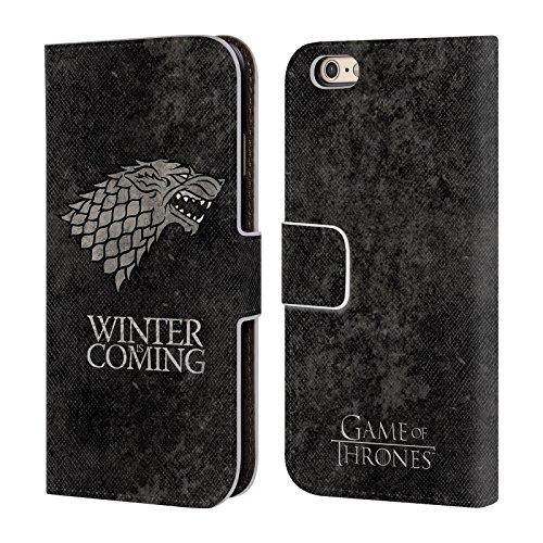 Ufficiale HBO Game Of Thrones Stark Sigilli Scuri Cover a portafoglio in pelle per Apple iPhone 6 / 6s