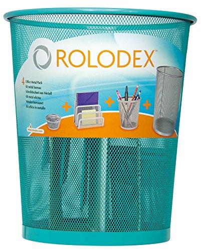 rolodex-s0819520-set-da-scrivania-in-metallo-4-pezzi-blu