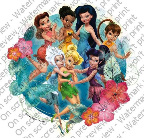 1/4 Sheet ~ Disney Fairies Pixie Hollow Friends ~ Edible Image Cake/Cupcake Topper!!!