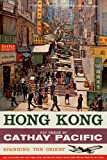 Cathay Pacific busy street on Hong Kong vintage travel Poster repro A3 - 29.7 x 42 cm