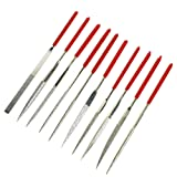 BIGTEDDY - Diamond Needle Nut Guitar Fret File Set Hole Slot Filing Guitar Repair Luthier Jewelers Jewelry Making Tool