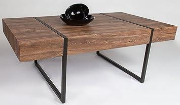 Table basse en bois coloris chêne Stirling - Dim : 100 x 60 x 40 cm -PEGANE-