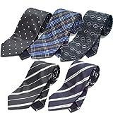 (スミスアンドスコット) Smith & Scott 全24パターン 洗濯 出来る ポリ ウォッシャブル ネクタイ 5本 セット 無地 ストライプ 小紋 チェック ドット 柄 ビジネス ブランド ネクタイ タイプ