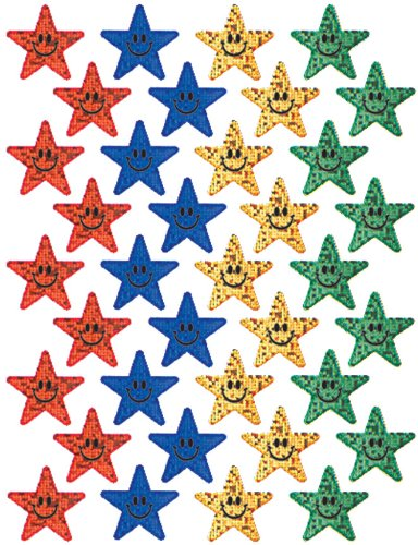 Eureka Smiling Stars Stickers, Multi Color
