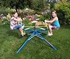 Twirl Go Round Kids 2 Seater - Merry Go Round Teeter Totter - Blue and Yellow
