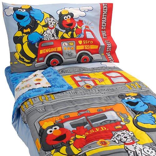Sesame Street Fire Department 4 Piece Set