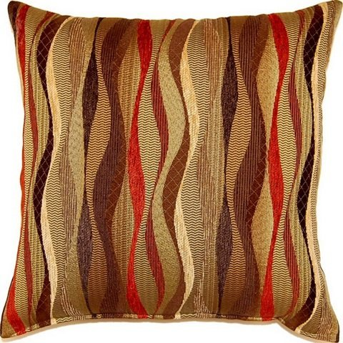 Fox Hill 613138298494-Dakota New Wave Brick 17-Inch Throw Pillows (Set Of 2)