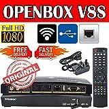 MCBoson® Genuine Openbox V8S Full HD 1080p FTA Digital TV Satellite Receiver Set Top Box Upgrade of V5S WEB TV LIVE