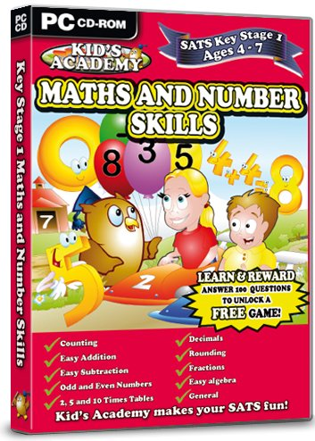 Kid's Academy - Key Stage 1 Maths and Number Skills  - 4-7 Years (PC CD)