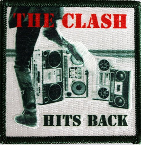 "THE CLASH Hit Back, Officially Licensed Original Artwork, Premium Quality Iron-On / Sew-On, 3"" x 3"" Embroidered PATCH toppa"