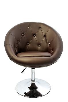 Poltrona lounge Londra ecopelle design moderno molto elegante 56x66x98cm ~ marrone