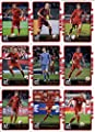 2016 Donruss Soccer FC Bayern Munich Team Set of 9 Cards in Protective Snap Case: Arjen Robben(#33), Arturo Vidal(#34), David Alaba(#35), Manuel Neuer(#36), Mario Gotze(#37), Philipp Lahm(#38), Robert Lewandowski(#39), Thomas Muller(#40), Xabi Alonso(#41)