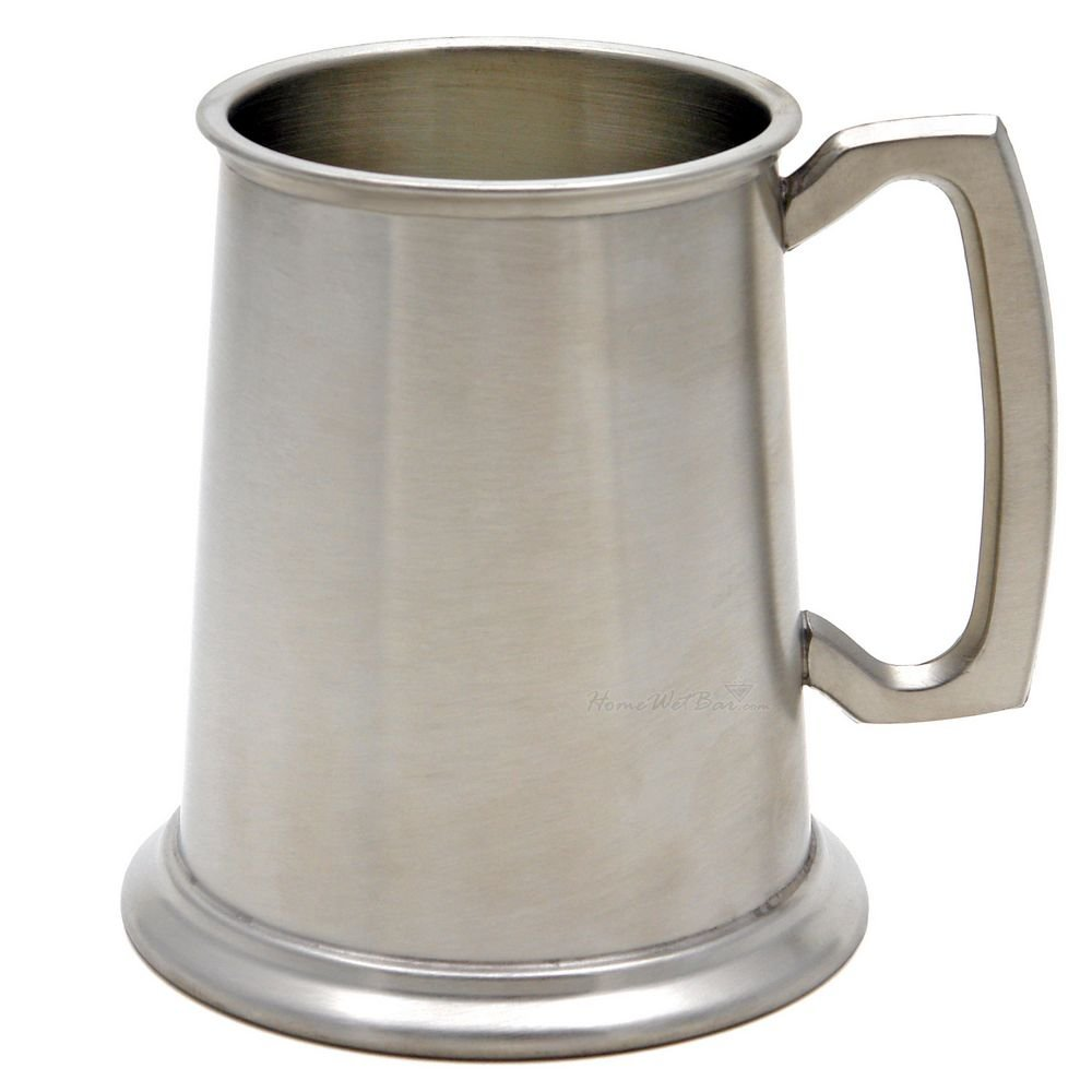 Glass Bottom English Pewter Tankard - 18 ounce Reviews