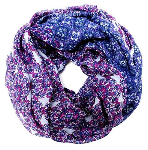 accessu-Echarpe-Foulard-pour-Femme-Floral-Ornament-Design