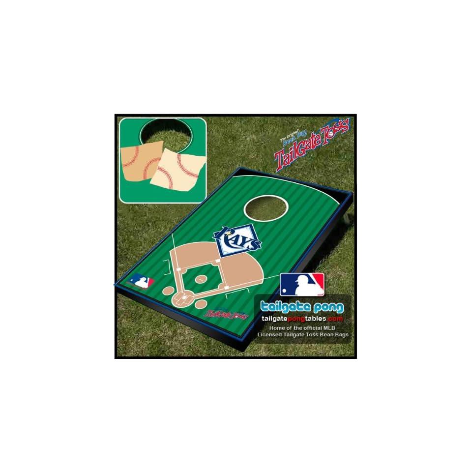 Tampa Bay Rays MLB Baseball Tailgate Toss Cornhole Game