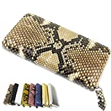 パイソン 蛇革 革 本革 レザー ラウンド 財布 長財布 メンズ レディース 8色 ウォレット金運UP 本物保証 (ナチュラル)
