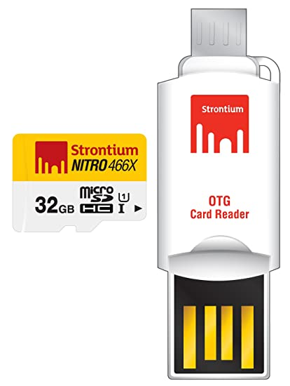 Strontium 32 GB Nitro 466X UHS-1 microSDHC Memory Card With OTG Card Reader @ Amazon.in – Rs.558 – Computers, laptops & Accessories