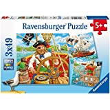 Ravensburger Puzzles Pirate Adventure, Multi Color (3 X 49 Pieces)