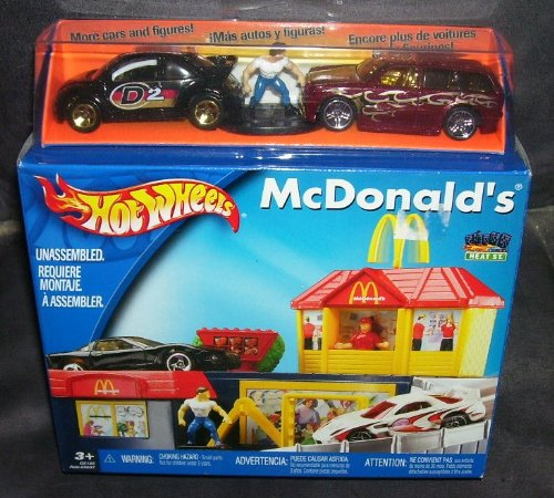 Buy Low Price Mattel HOT WHEELS MCDONALD'S EDITION WITH FIGURE AND VEHICLES (B003ZHOMI6)