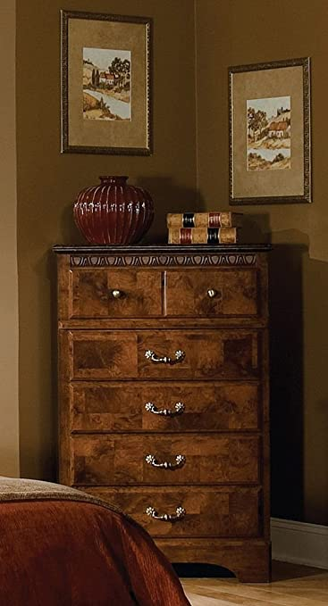 Greensboro Black Oak 5-Drawer Chest - Espresso