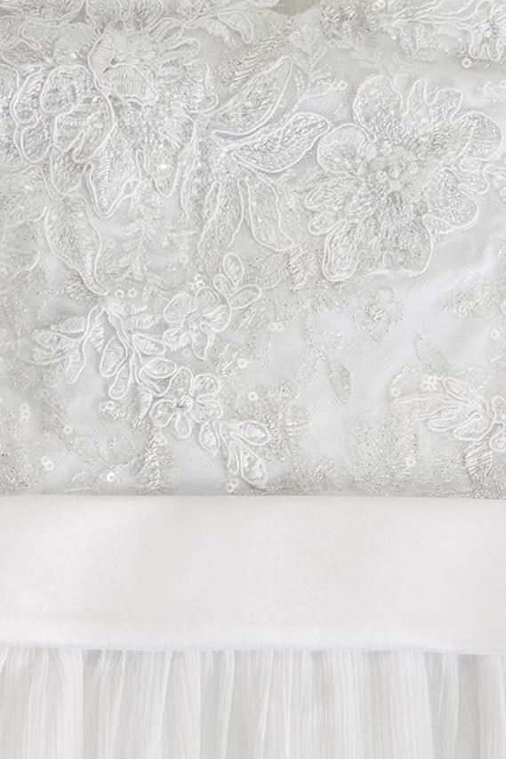 Illusion Tank Chiffon Wedding Dress with Lace Style MK3747