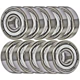 623ZZ 10 Bearing Shielded 3x10x4 Miniature Ball Bearings VXB Brand