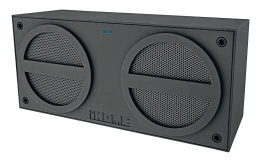 iHome iBN24GC Bluetooth Rechargeable Stereo Mini Speaker Grey