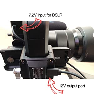POWRIG NP-FW50 Cable Adapter for DJI Ronin-s Power A7S Sony Alpha a7, a7 II, a7R, a7R II, a7S, a7S II, a5000, a5100, a6000, a6300, a6500, NEX-5T, and Cyber-Shot DSC-RX10 III Camera
