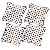 Belive-Me Stylish Velvet Stars White Cushion Covers (Set Of 4)