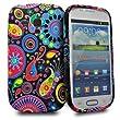 Accessory Master Etui en silicone pour Samsung Galaxy S III Mini Motif Multi Jelly Fish fleur