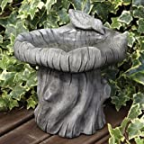 Garden Bird Bath Feeder - Woodlands Stone Birdbath