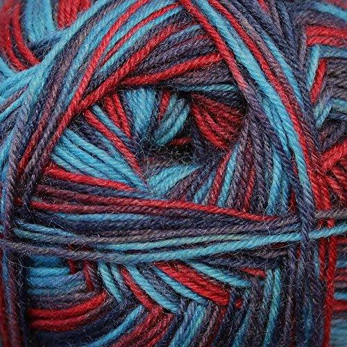 King Cole Zig Zag 4Ply Superwash gomitolo di lana e nylon-Gomitolo di filo, 100g, (varie tonalità) Majestic - 1244