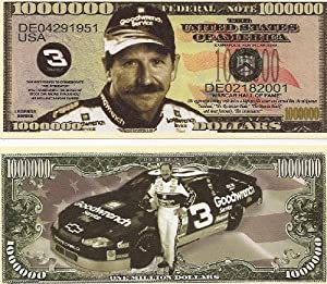 Dale Earnhardt $Million Dollar$ Novelty Bill Collectible