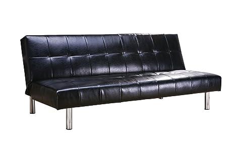 ACME 05994 Polyurethane Adjustable Sofa, Black