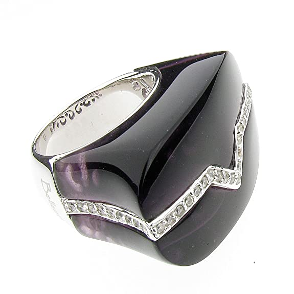Bellezza Sterling Silver & Amethyst Cocktail Ring