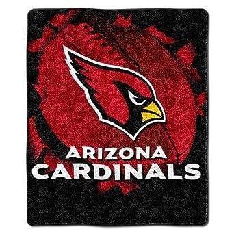 NFL Arizona Cardinals 50-Inch-by-60-Inch Sherpa on Sherpa Throw Blanket Burst Design by Northwest