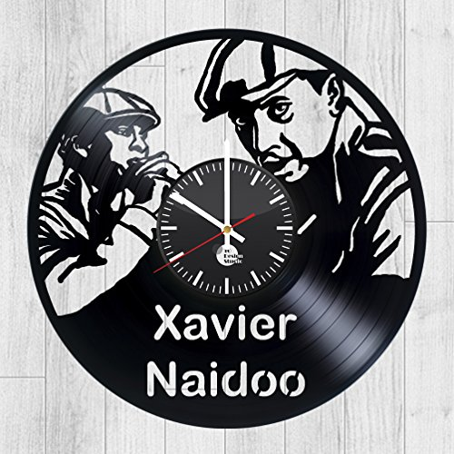 XAVIER-NAIDOO-HANDMADE-Vinyl-Record-Wall-Clock-Get-unique-living-room-wall-decor-Gift-ideas-for-women-and-girls-Music-Unique-Art-Leave-us-a-feedback-and-win-your-custom-clock