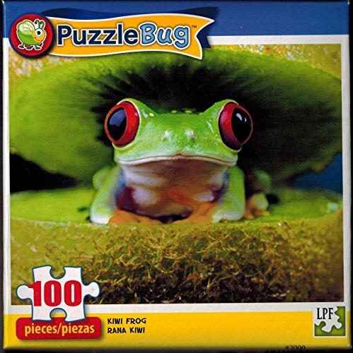 Puzzlebug 100 Piece Jigsaw Puzzle - Kiwi Frog