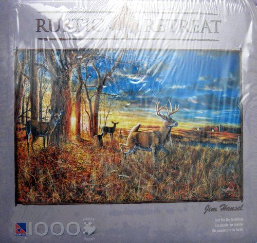 "Rustic Retreat 1000 Pcs Puzzle ""Out for the Evening"" By Jim Hansel"